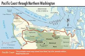 Washington Map With Cities by Pacific Coast Highway Road Trip Usa