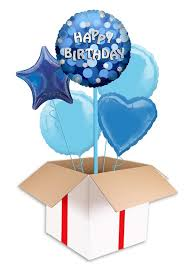 birthday balloons delivered blue sparkle party happy birthday balloon delivered inflated in uk