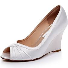 wedding shoes wedges luxveer satin wedding shoes bridal shoes women shoes
