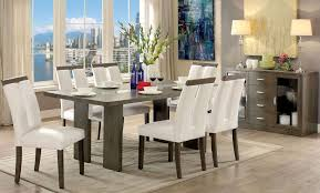 luminar i gray dining room set furniture of america furniture cart