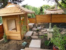 boring side yard transformed into a japanese garden with a tea