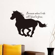 compare prices on wall decals quotes horse online shopping buy free shipping inspiring quotes because when i ride horse wall stickers home decor living room silhouette