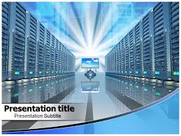 download data center services powerpoint template slide world