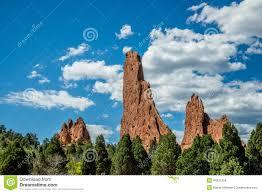 Garden Of The Gods Rock Formations Garden Of The Gods Rock Formation Colorado Stock Photo Image