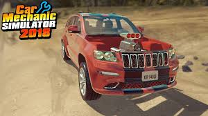 jeep trackhawk back jeep trackhawk car mechanic simulator 2018 youtube