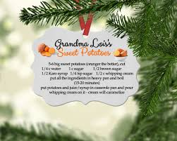 personalized family recipe christmas remembrance ornaments