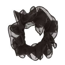 hair scrunchie black mesh ruched hair scrunchie s