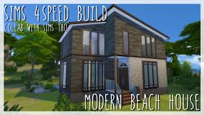 modern beach house sims 4 speed build x collab with sims tho