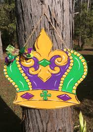 mardi gras crown mardi gras crown door hanger door wreath new orleans nola