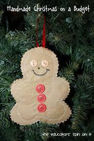 diy kid made gingerbread ornament