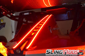 Led Strip Lights Automotive by Polaris Slingshot Led Tail Fin Running Brake Light Strips By Tricled