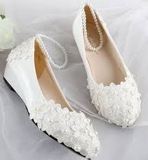 wedding shoes low wedges aliexpress buy women wedding shoes white wedges mid low high