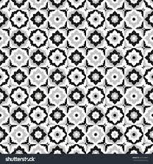 seamless pattern black and white ceramic tile design with floral