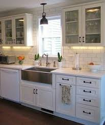 White Kitchen Cabinets And White Countertops White Cabinets Honed Slate Counter Tops And Black Handles Love