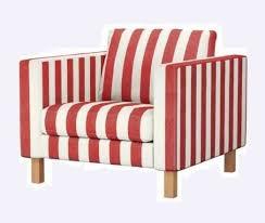 karlstad chair cover ikea karlstad chair cover rannebo white stripe ebay