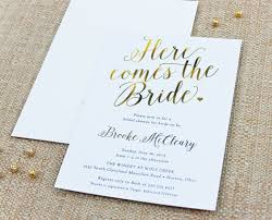 calligraphy invitations here comes the calligraphy bridal shower invitation