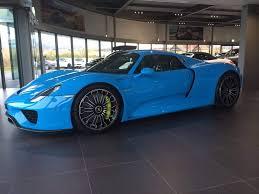 gold porsche 918 porsche 918 spyder looks awesome in baby blue sssupersports com