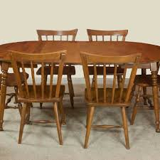Maple Dining Room Table And Chairs Vintage Maple Dining Room Table And Chairs Ebth