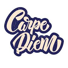 carpe diem lettering in graffiti style phrase on white background