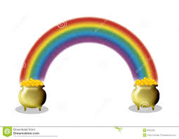 pots of gold and rainbow stock images image 8922234