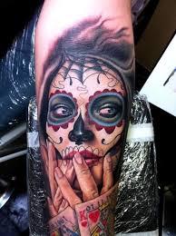 Forearm Skull - forearm sugar skull creativefan