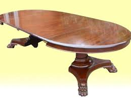 Antique Pedestal Dining Table Superb Antique Mahogany Circular Extending Centre Pedestal Dining