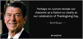 ronald quote perhaps no custom reveals our character as a