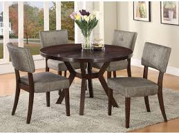 Wood Dining Chairs Acme Furniture Drake Espresso 5 Piece Modern Dining Set