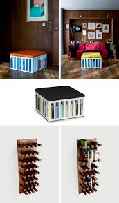 Bookcase Wall Bookcase Chair Hybrid Now With New Mini Shelved Ottoman Urbanist