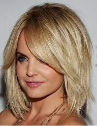 bob haircut with bangs and layers women medium haircut