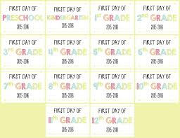 first day of signs free printable