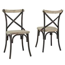 Reclaimed Dining Chairs Industrial Reclaimed Solid Wood Dining Chairs Set Of 2