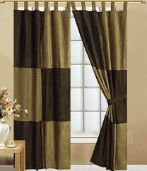 Brown And Green Curtains Designs Awesome Green Curtains For Living Room With Stained Wall Design