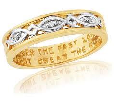 commitment ring buy 9ct gold plated sterling silver commitment ring l at