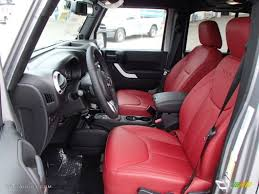 jeep red interior 2013 billet silver metallic jeep wrangler unlimited rubicon 10th
