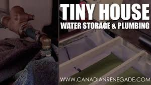 tiny house water storage and plumbing youtube