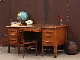 Vintage Office Desk Wooden Oak Vintage Office Desk Vintage Tables Desks