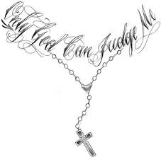cross necklace tattoo images God letter with cross necklace chain tattoo jpg