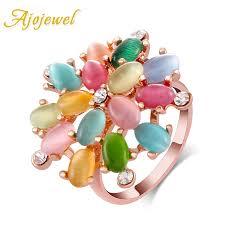 big ladies rings images Buy ajojewel big multicolor opal stone flower jpg