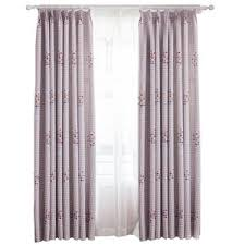 Pink And Purple Curtains Colorful Polka Dots Print Cotton Curtains