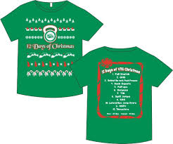 christmas shirts vtg 12 days of christmas shirt crossfit vtg