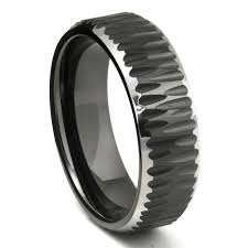 mens tungsten wedding bands black tungsten carbide hammer finish beveled wedding band ring