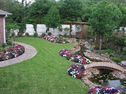 Simple Backyard Landscaping Ideas Exterior Backyard With Small Waterfall And Pond Backyard Ponds