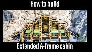 ark how to build extended a frame cabin ragnarok youtube