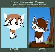 Draw This Again Meme Blank - warrior cats blog