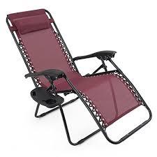 Zero Gravity Patio Chairs by Arksen Burgundy Zero Gravity Patio Chairs 2 Pack