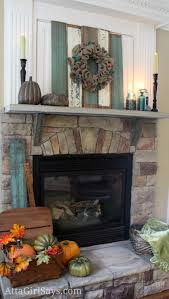 rustic recycled u0026 natural fall fireplace mantel ideas