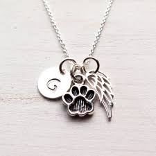 personalized paw print necklace pet memorial necklace paw print necklace pet loss dog cat pet