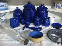 cobalt blue kitchen canisters 9 cobalt blue canister set seymour for sale in knoxville