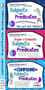 Worksheets On Subjects And Predicates Best 20 Subject And Predicate Exercises Ideas On Pinterest